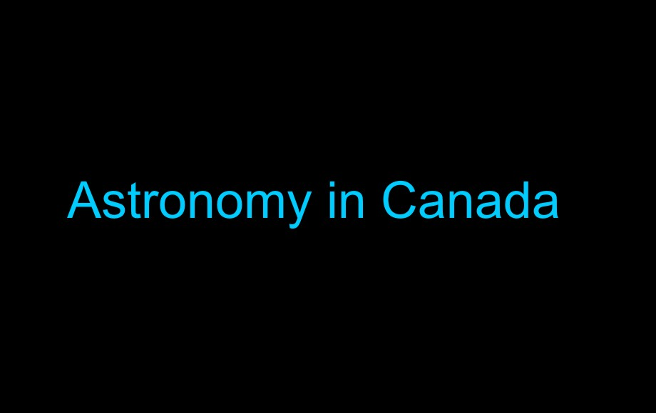 Astronomy in Canada
