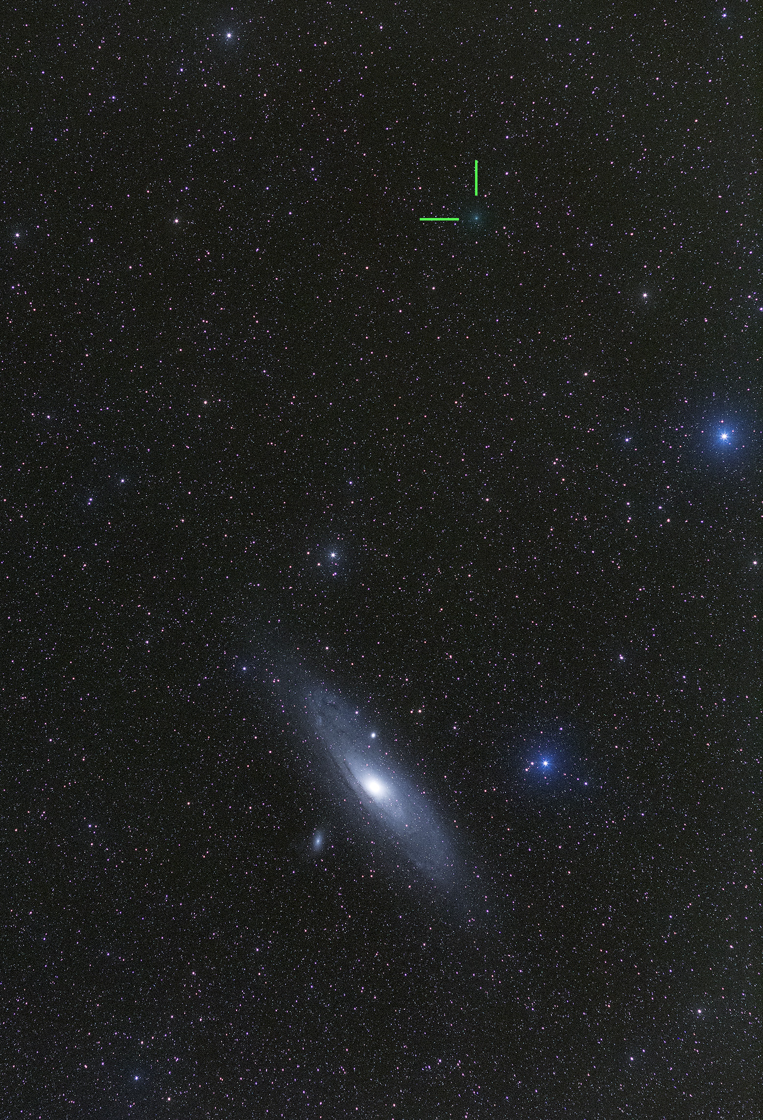 M31 and comet