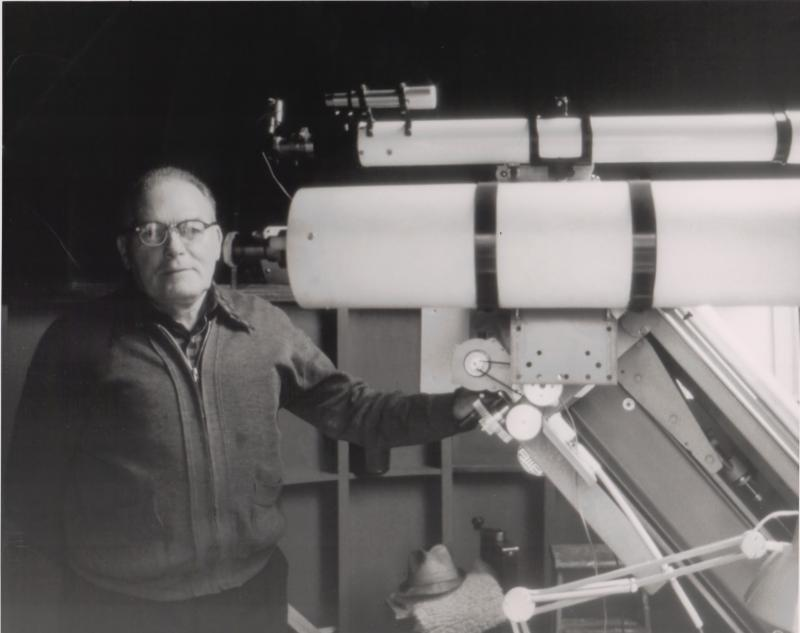 George Ball and his telescope
