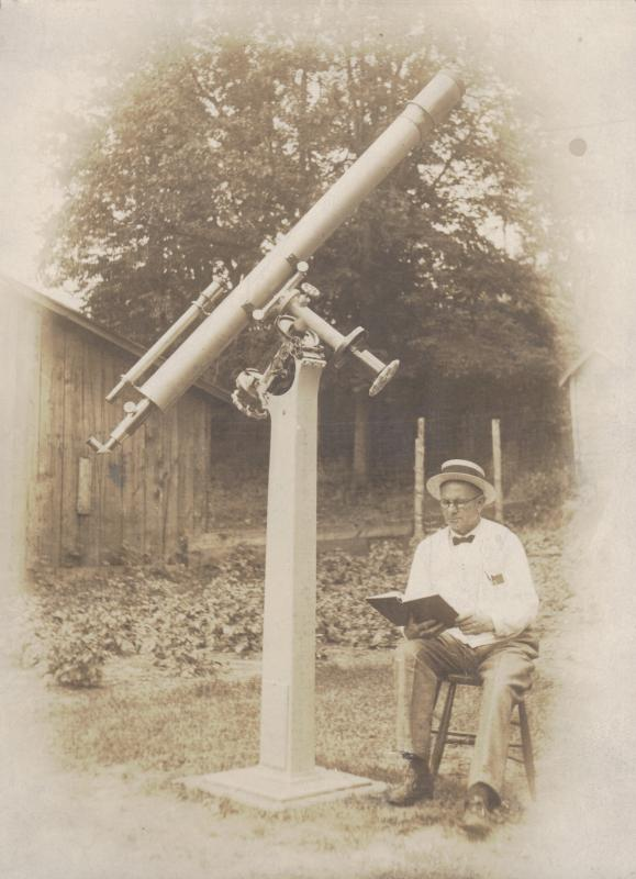 Rev. D.B. Marsh and his Telescope