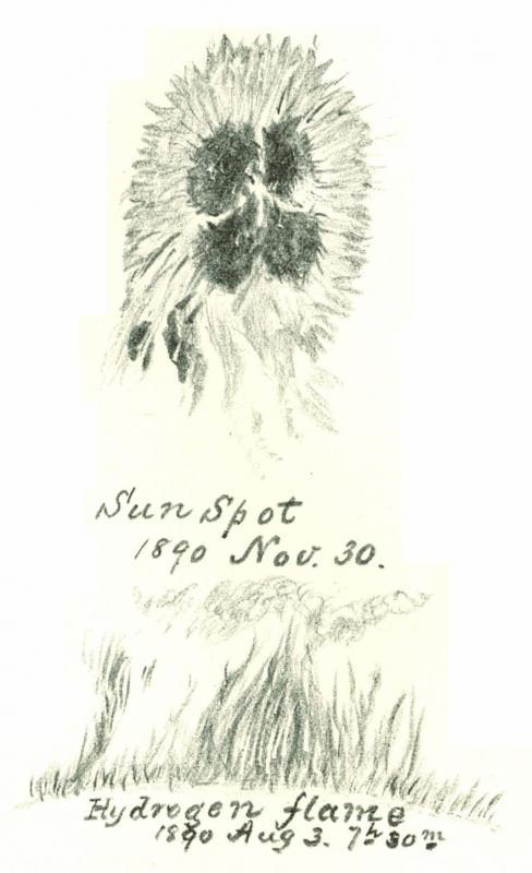 Sunspot Sketch 1890