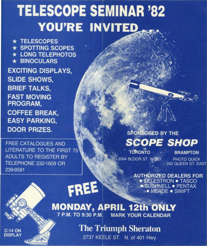 Telescope Seminar 1982