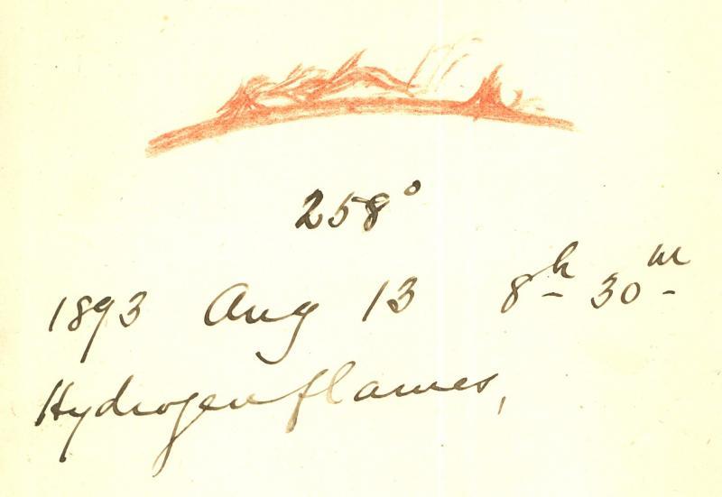 Hydrogen Flames 1893