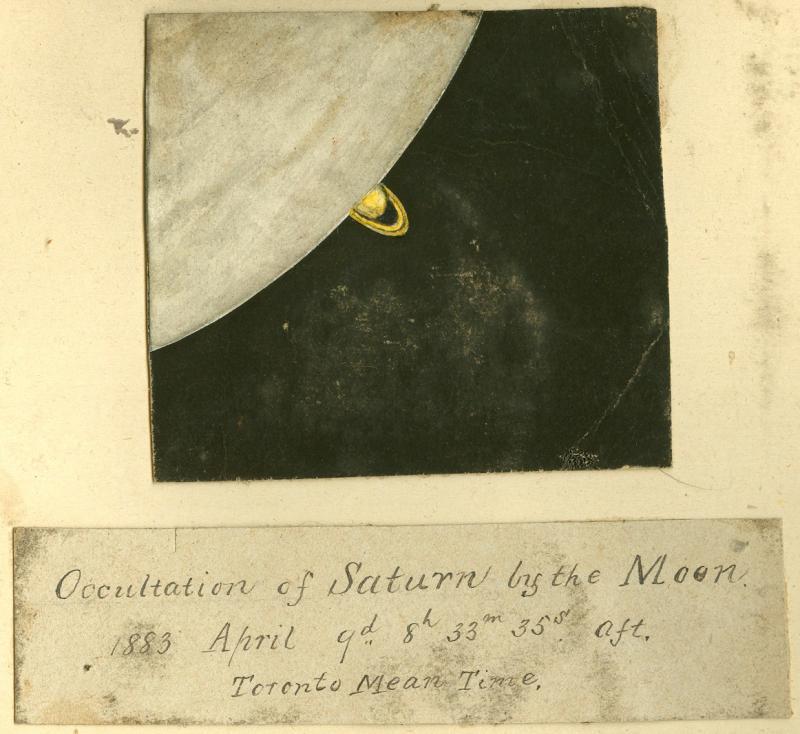 Occultation of Saturn 1883
