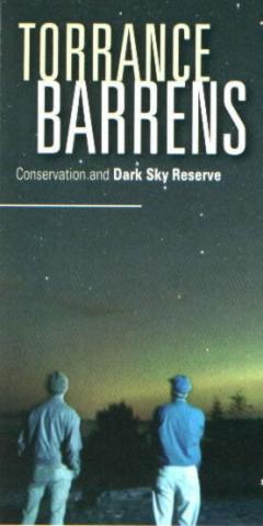 The cover of the Torrence Barrens Dark Sky Reserve brochure